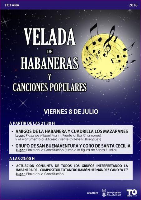 Mañana por la noche se celebra la Velada de Habaneras y Canciones Populares en diversos espacios del casco urbano, Foto 1