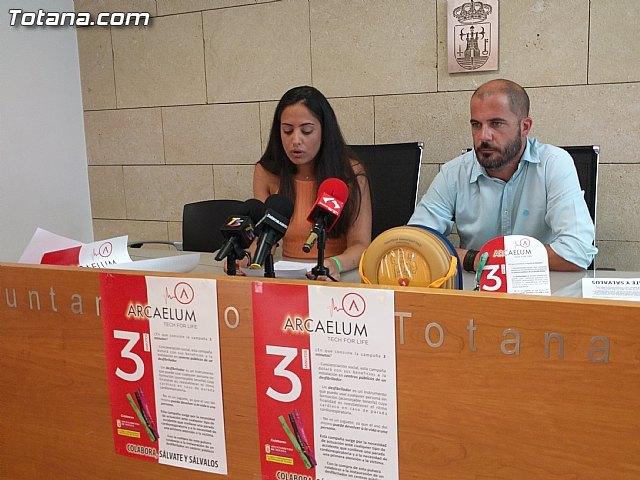 Los clubes y asociaciones deportivas se encargarán de la venta de pulseras para financiar desfibriladores en las instalaciones públicas de Totana, Foto 2