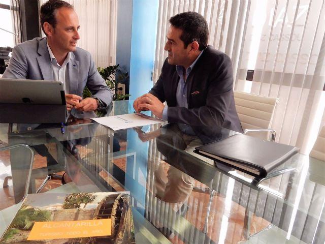 El alcalde de Alcantarilla, Joaquín Buendía, se reúne con el consejero de Turismo, Cultura y Medio Ambiente, Javier Celdrán - 2, Foto 2