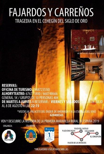 Alhory revivirá este verano la tragedia entre Carreños y Fajardos en el Siglo de Oro de Cehegín - 1, Foto 1