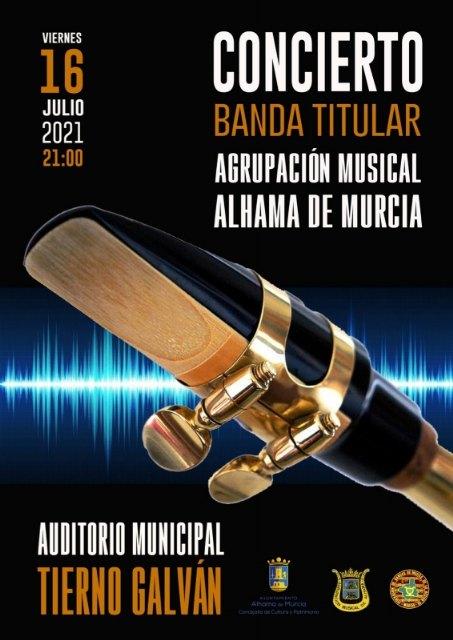 La banda titular de la Agrupación Musical da la bienvenida al verano con un concierto en el auditorio, Foto 1