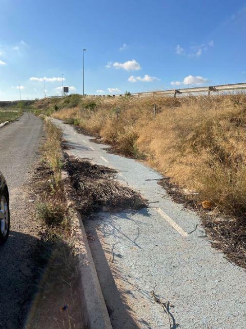 El PSOE de San Javier pide a la Comunidad Autónoma que arregle el carril bici del Mirador - 1, Foto 1