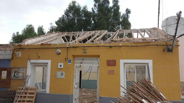 Obras de mejora estructural en la escuela unitaria de La Costera, Foto 1