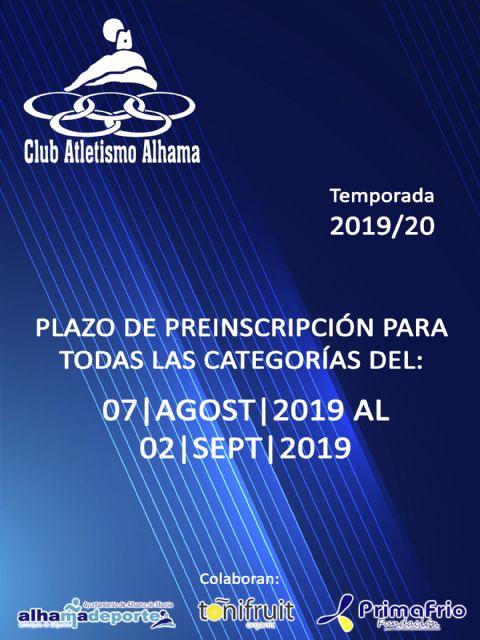 El Club Atletismo Alhama prepara la temporada 2019/20, Foto 1