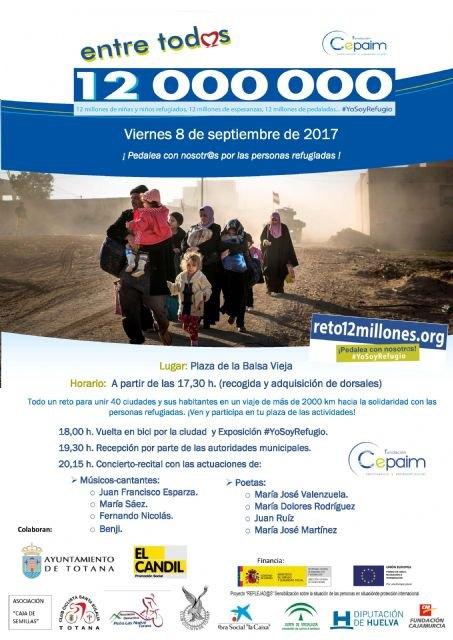 Totana se suma al reto Entre todos 12 millones, iniciativa promovida por la fundación CEPAIM en apoyo a los menores refugiados, Foto 2