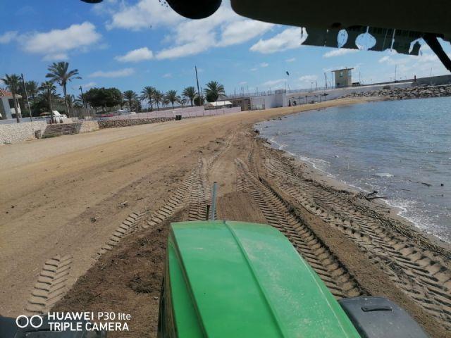 Las playas se recuperan lentamente tras los destrozos de las lluvias de la pasada semana - 3, Foto 3