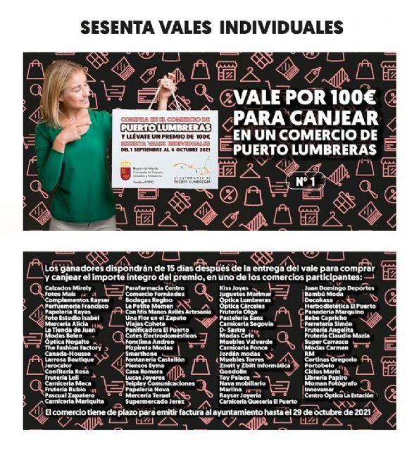 Vuelve la campaña Compra en Puerto Lumbreras y llévate un premio, que sorteará 60 vales de 100 euros entre quienes hagan sus compras en el comercio local hasta el 6 de octubre - 4, Foto 4