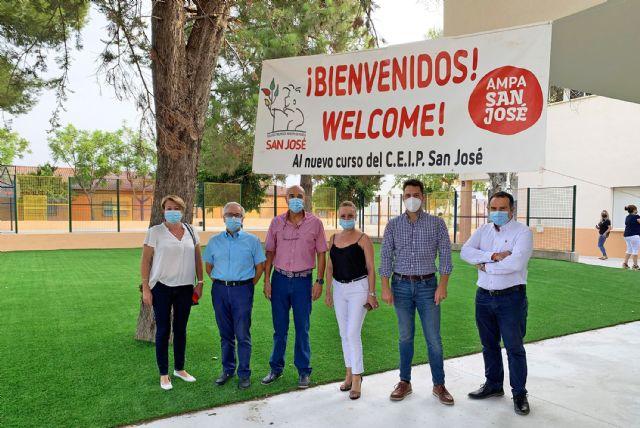 Unos 2.500 escolares inician el curso en Las Torres de Cotillas, que llega con la novedad de la ampliación del colegio San José - 1, Foto 1