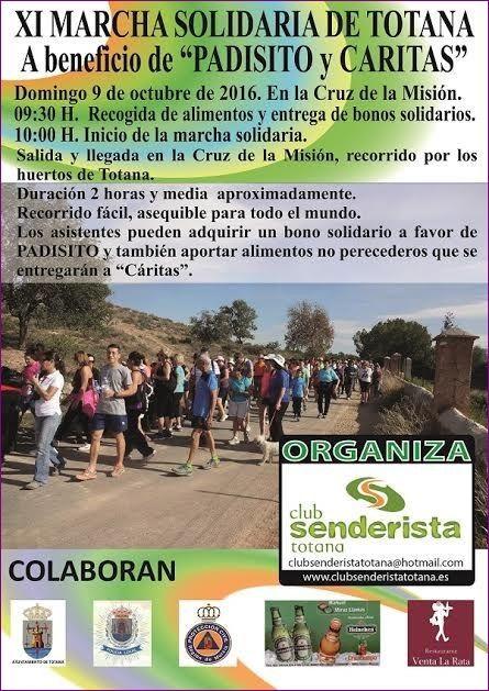 La XI Marcha Solidaria Senderista se celebra este domingo a beneficio de PADISITO y Cáritas de las dos parroquias, Foto 1