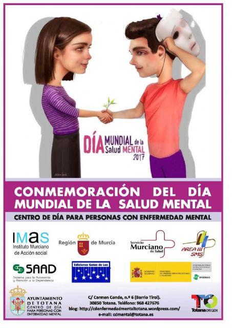 El Ayuntamiento de Totana celebra el próximo martes 10 de octubre un acto institucional para conmemorar el Día Mundial de la Salud Mental, Foto 1