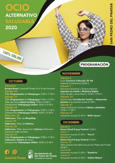 Juventud lanza la tercera edición de Ocio Alternativo Saludable con un programa totalmente online - 2, Foto 2