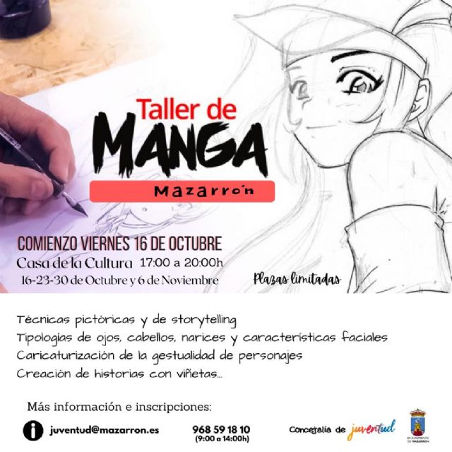 Juventud realizará un Taller de Manga con el que los jóvenes conocerán y practicarán sus técnicas y trucos - 1, Foto 1