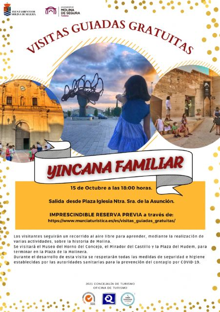 La Concejalía de Turismo de Molina de Segura organiza la visita guiada gratuita Yincana Familiar el viernes 15 de octubre - 1, Foto 1