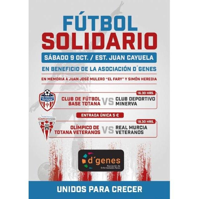 Tarde de fútbol solidario el próximo 9 de octubre en el Juan Cayuela a beneficio de D´Genes, Foto 2