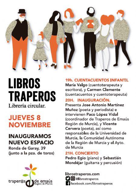 Traperos de Emaús presenta en el barrio de Santa Eulalia la mayor librería de segunda mano de la Región - 1, Foto 1