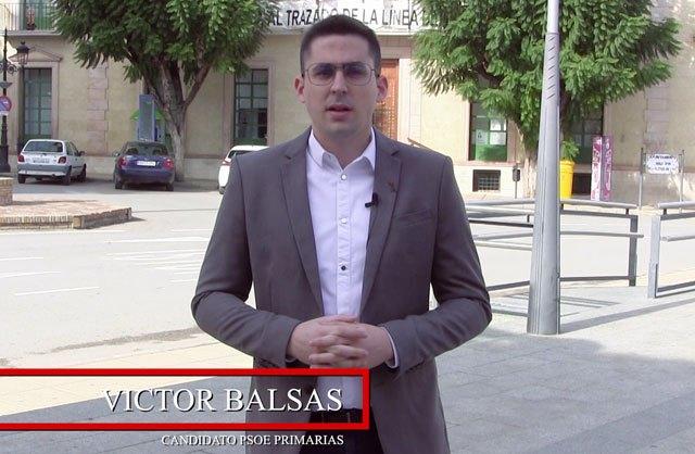 El Candidato a las Primarias Socialistas Víctor Balsas, hace un llamamiento público a la militancia