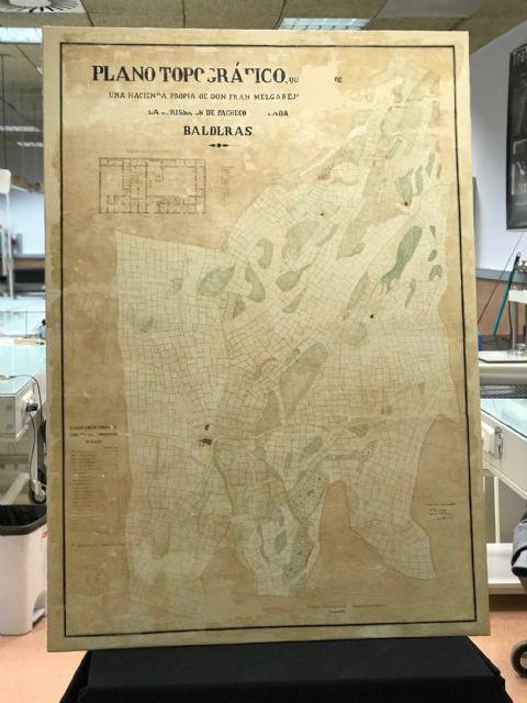 El Archivo Municipal cuenta con un Plano Topográfico del año 1872 de la Hacienda Valderas - 4, Foto 4