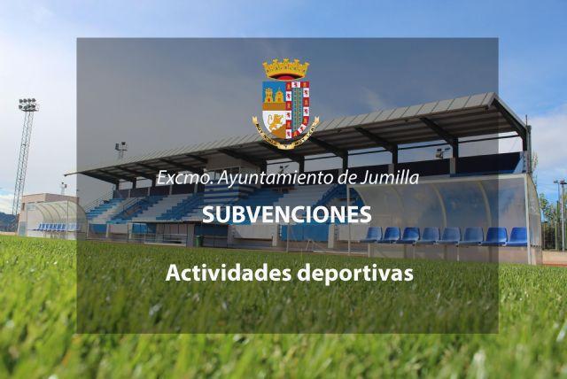 Mañana se inicia el plazo para solicitar subvenciones para actividades deportivas - 1, Foto 1