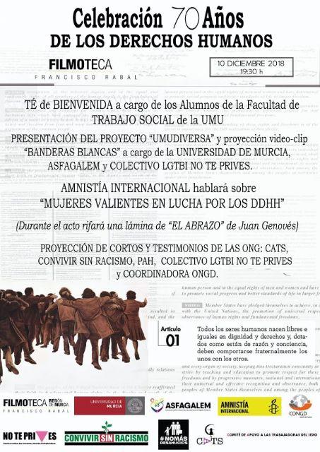 Estudiantes de la Universidad de Murcia presentan el videoclip 'Banderas blancas' este lunes en la Filmoteca Regional - 1, Foto 1