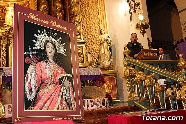 Se presenta el nº 2 de la revista Murcia Devota, cuya portada est� protagonizada por la Patrona de Totana, Santa Eulalia de M�rida, Foto 3