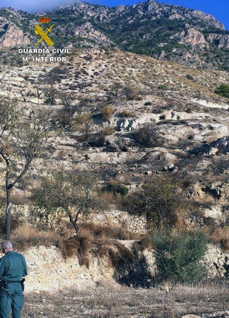 La Guardia Civil investiga a una persona por un incendio forestal en Fortuna - 1, Foto 1
