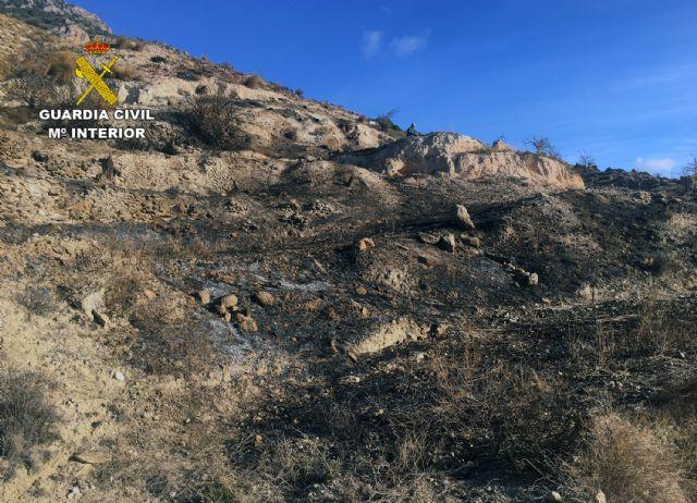 La Guardia Civil investiga a una persona por un incendio forestal en Fortuna - 2, Foto 2