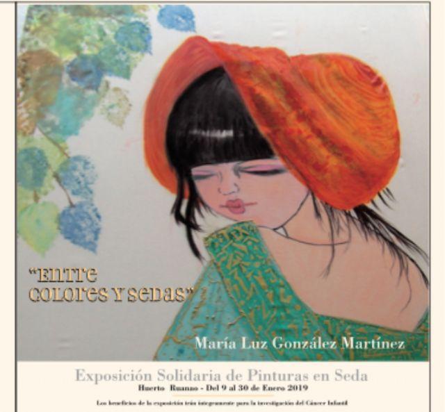 La exposición de pinturas en sedas Entre colores y sedas de María Luz González podrá visitarse en el Huerto Ruano entre el 9 y el 30 de enero - 1, Foto 1