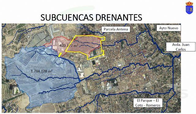 Las Torres de Cotillas presenta a la CHS un diseño del futuro proyecto para gestionar las aguas del parque de La Emisora - 2, Foto 2