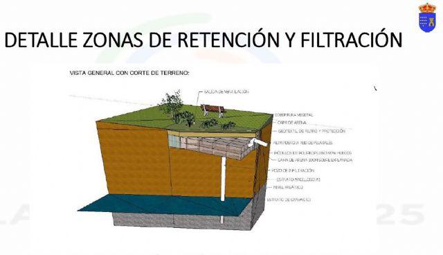 Las Torres de Cotillas presenta a la CHS un diseño del futuro proyecto para gestionar las aguas del parque de La Emisora - 3, Foto 3