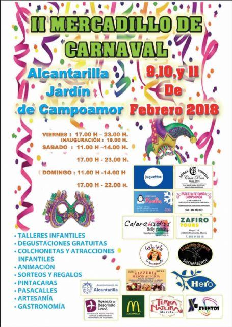 Alcantarilla tendrá en este fin de semana carnavalero, el II Mercadillo de Carnaval en el jardín de Campoamor y Chirigotas en el Centro Cultural Infanta Elena - 1, Foto 1
