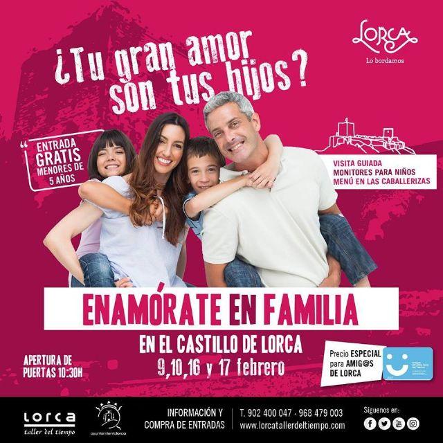 Lorca, Taller del Tiempo pone en marcha una iniciativa por San Valentín para que las familias al completo puedan disfrutar de la visita al Castillo - 1, Foto 1