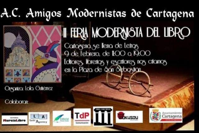Llega la segunda edición de la Feria Modernista del Libro a Cartagena - 1, Foto 1