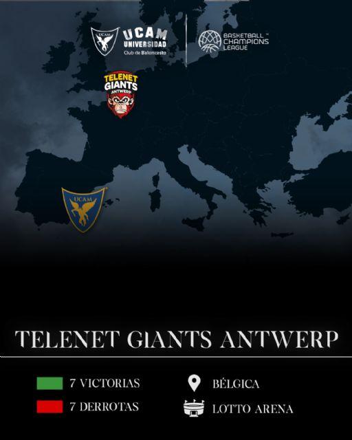 Telenet Giants Antwerp, rival del UCAM Murcia CB en octavos de la Basketball Champions League - 1, Foto 1