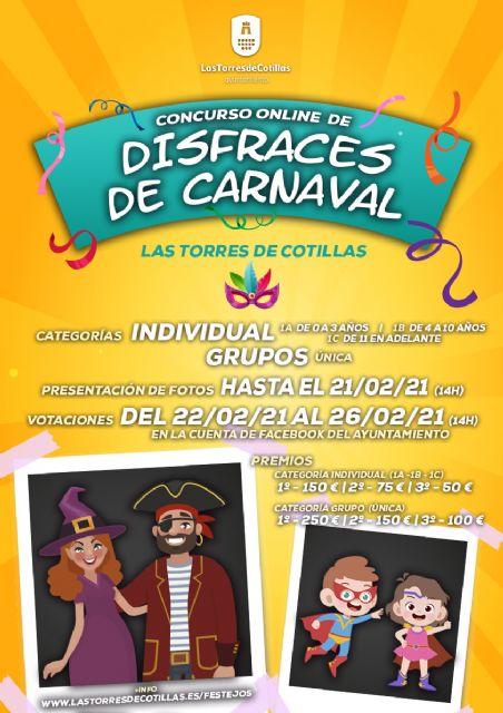 Más de 1.300 euros en premios para la primera edición del concurso online de disfraces de Carnaval - 1, Foto 1