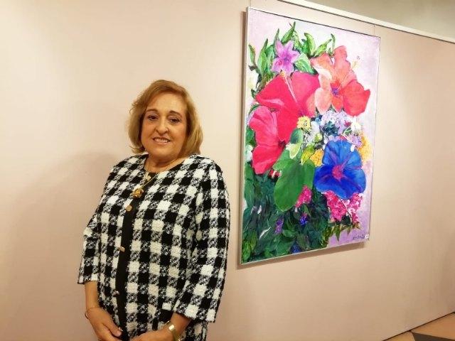 """The painting exhibition by María José García Sánchez is inaugurated in the """"Gregorio Cebrián"""" room - 1"""
