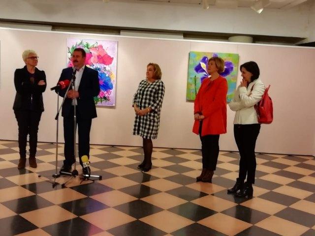 """The painting exhibition by María José García Sánchez is inaugurated in the """"Gregorio Cebrián"""" room - 2"""
