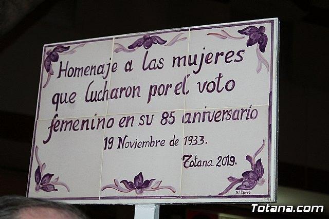 Totana rinde un homenaje institucional a las mujeres que lucharon por el sufragio femenino con motivo de su 85 aniversario - 2, Foto 2