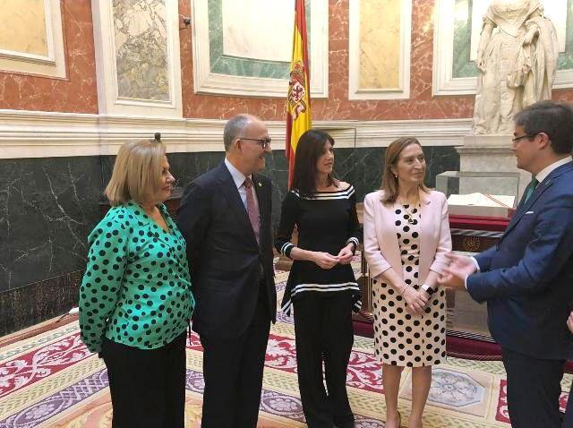 Perla Fuertes presenta el cártel del Entierro de la Sardina 2019 en el Congreso de los Diputados - 1, Foto 1