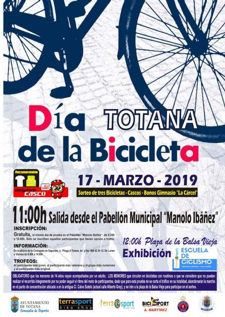 El Día de la Bicicleta se celebrará el próximo 17 de marzo, organizado por la Concejalía de Deportes y