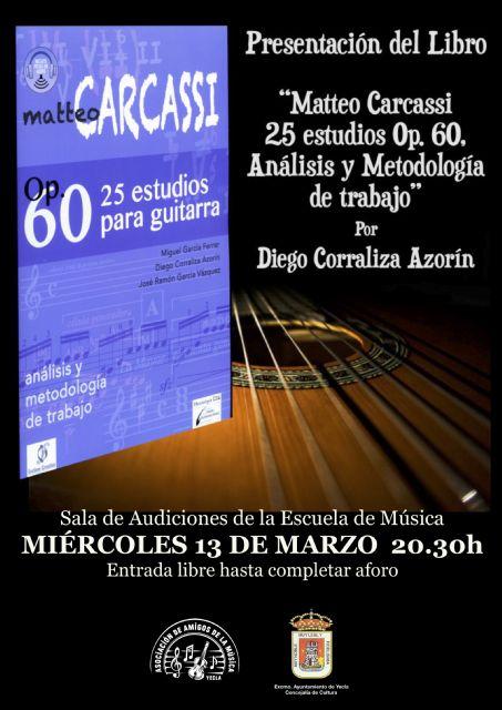 Diego Corraliza presenta el libro matteoz6 carcassi 25 estudios op. 60, análisis y metodología de trabajo - 1, Foto 1