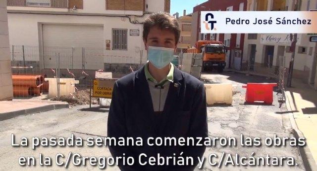Se ejecutan durante estas semanas las obras de reposición de saneamiento y asfalto en C/ Alcántara y Gregorio Cebrián