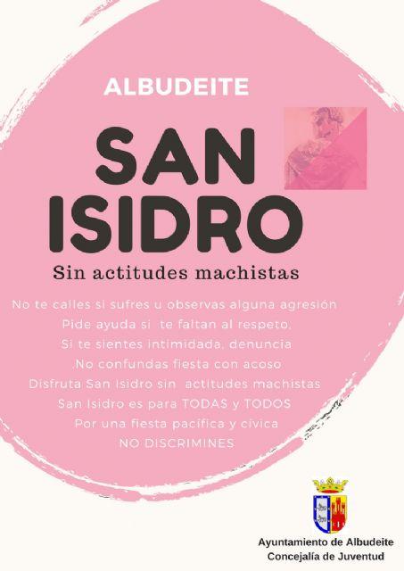 La Concejalía de Juventud de Albudeite lanza la Campaña San Isidro, sin actitudes machistas - 1, Foto 1