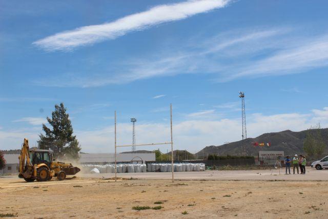 En marcha las obras de la pista de atletismo de Puerto Lumbreras - 1, Foto 1