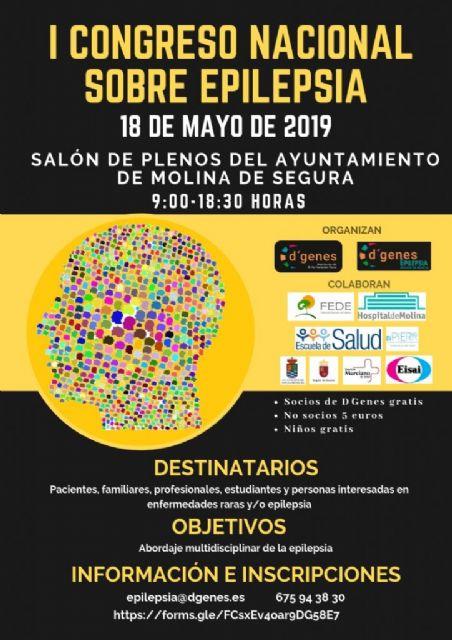 Se presenta el I Congreso Nacional sobre Epilepsia que tendrá lugar en Molina de Segura el próximo 18 de mayo, organizado por D´Genes