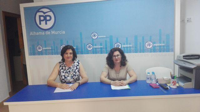 Rueda de Prensa PP Alhama. Valoraciones sobre la anulación del Pleno del Estado de Municipio, Foto 1