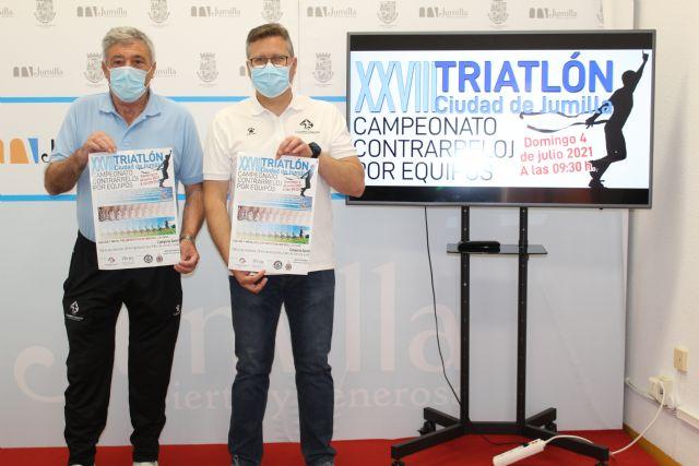 El XXVIII Triatlón de Jumilla se disputará el 4 de julio y será contrarreloj por equipos - 1, Foto 1
