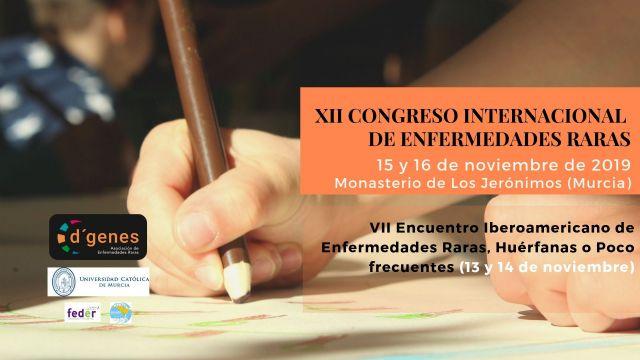 D´Genes está perfilando el programa del XII Congreso Internacional de Enfermedades Raras, que se celebrará los días 15 y 16 de noviembre en la Universidad Católica San Antonio de Murcia