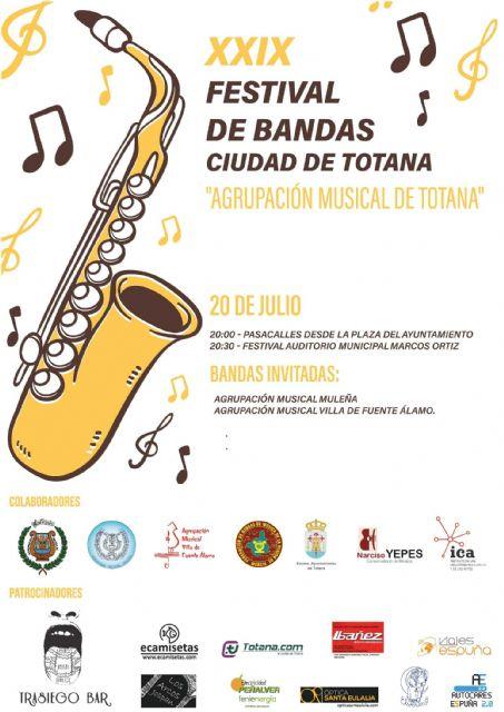 El XXIX Festival de Bandas de M�sica Ciudad de Totana se celebrar� el 20 de julio, Foto 2