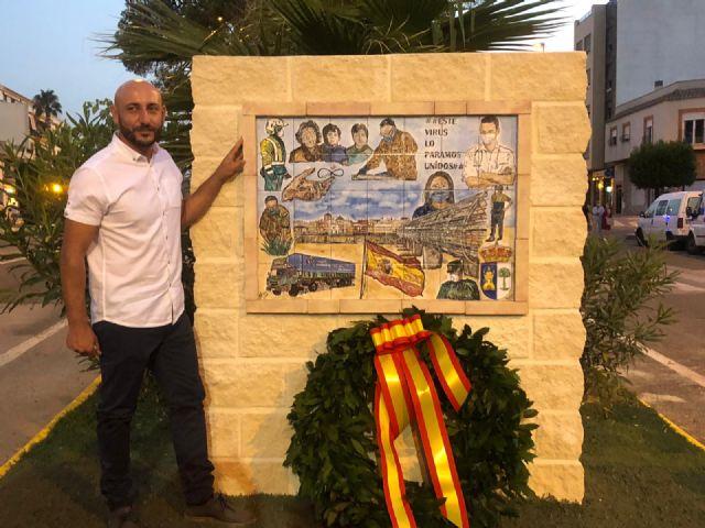 Puerto Lumbreras inaugura el primer mural en reconocimiento a la lucha de toda la sociedad contra el COVID-19 - 1, Foto 1