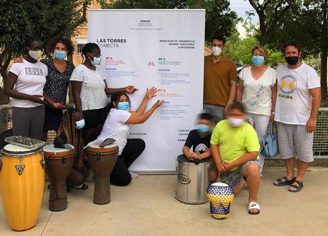 15 menores del barrio del Carmen disfrutan de un taller de percusión al aire libre - 2, Foto 2